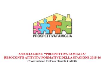 RESOCONTO ATTIVITA' FORMATIVE DELLA STAGIONE 2015-16